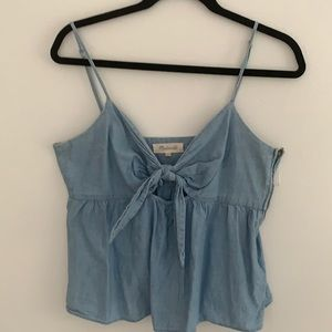 Madewell denim tank with cut out 10